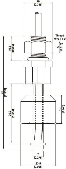 Датчик за ниво на течности 200V NC нерегулируем - 2