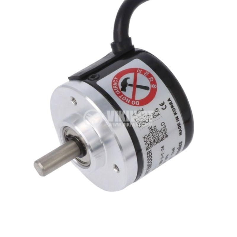 Енкодер инкрементален, 12~24VDC, 250имп./об, ф6mm, E40S6-250-3-T-24