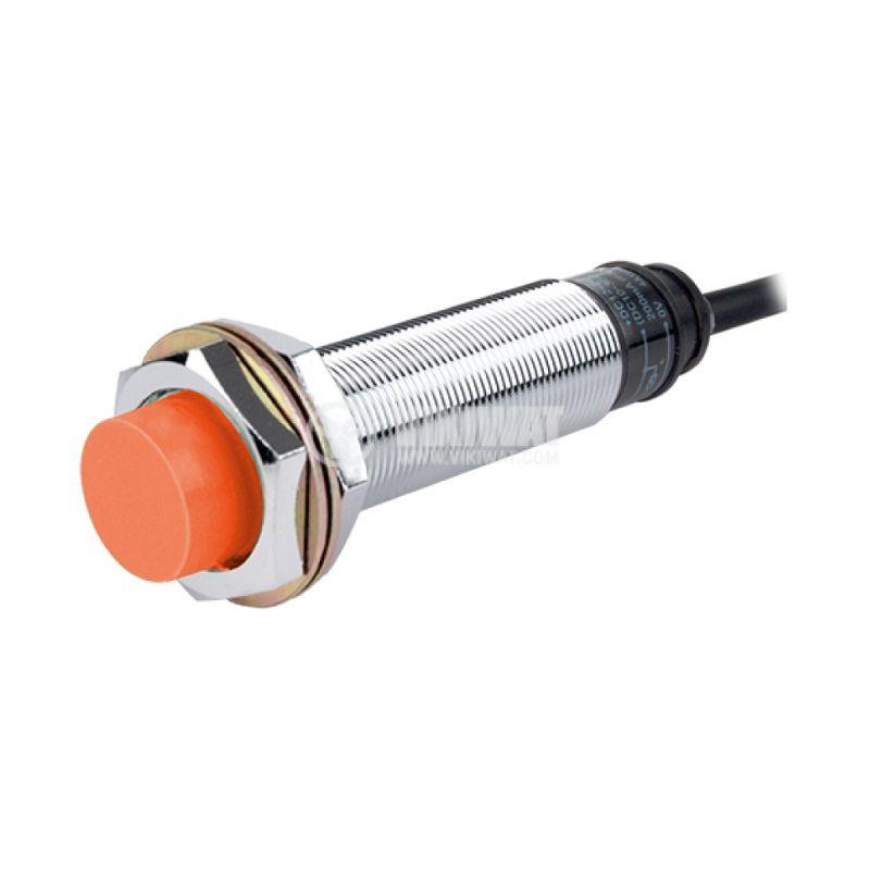 Индуктивен датчик PRL18-8DP, 10~30VDC, PNP, NO, 0~8mm, M18x80mm, неекраниран