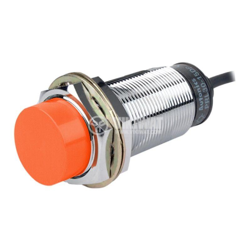 Proximity switch PRL30-15DP, 10~30VDC, PNP, NO, 0~15mm, M30x80mm, unshielded