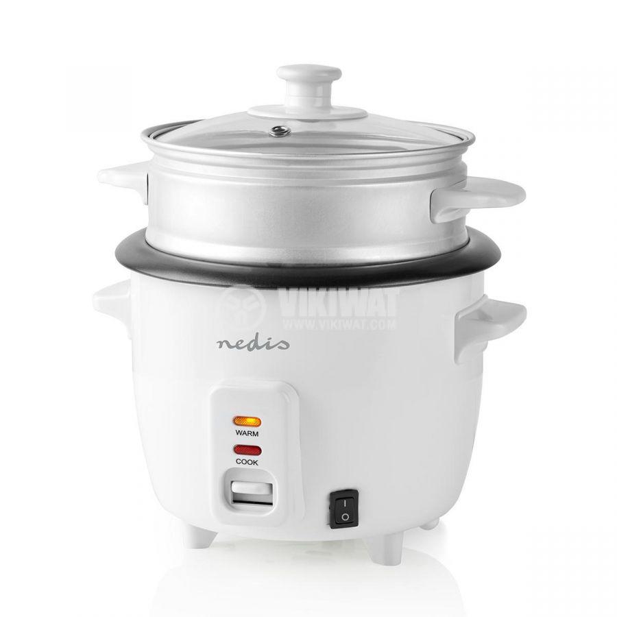 Rice cooker 600ml 230V 300W white NEDIS KARC06WT - 5