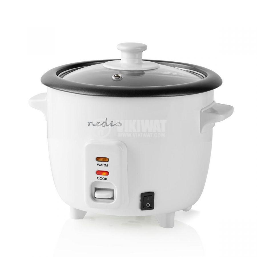 Rice cooker 600ml 230V 300W white NEDIS KARC06WT - 4