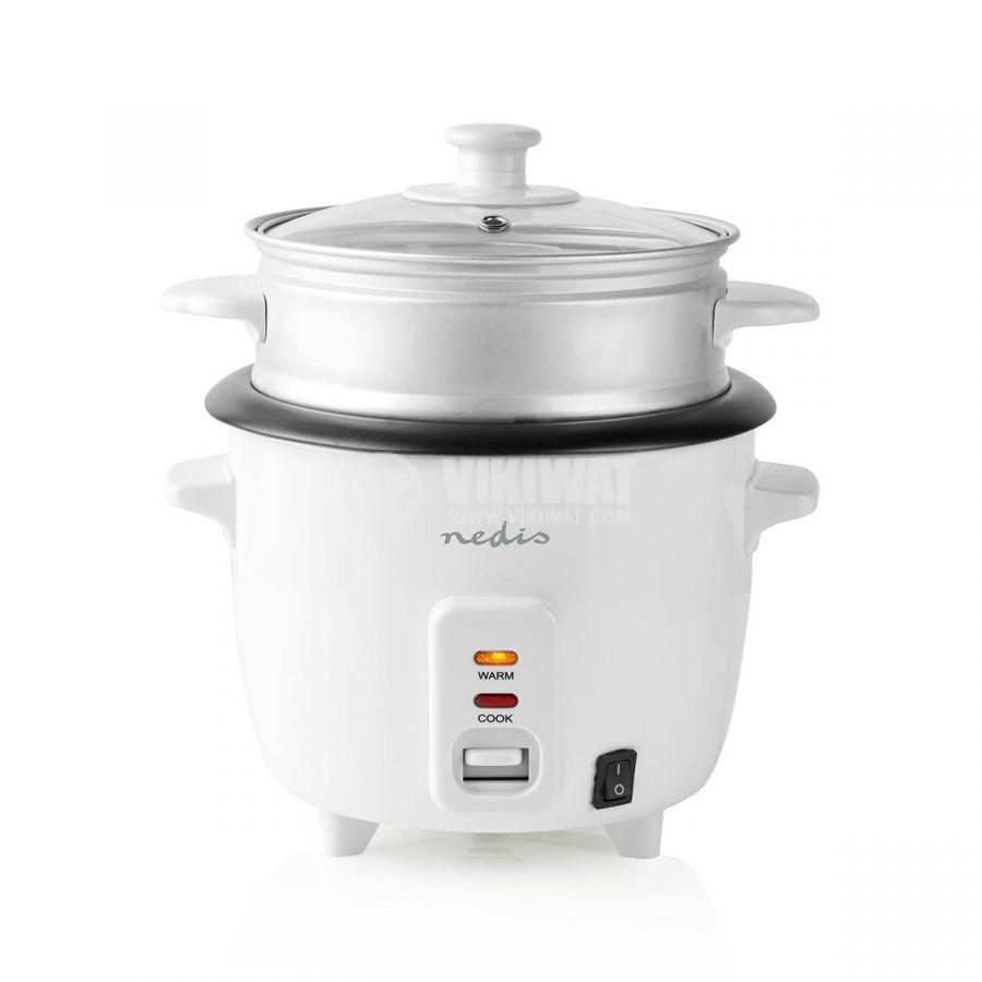 Rice cooker 600ml 230V 300W white NEDIS KARC06WT - 2