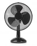 Черен настолен вентилатор за стая 30см