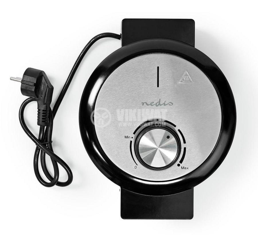 Waffle iron, 1000W, 230VAC, adjustable, black/gray, KAWP100BK, NEDIS - 9