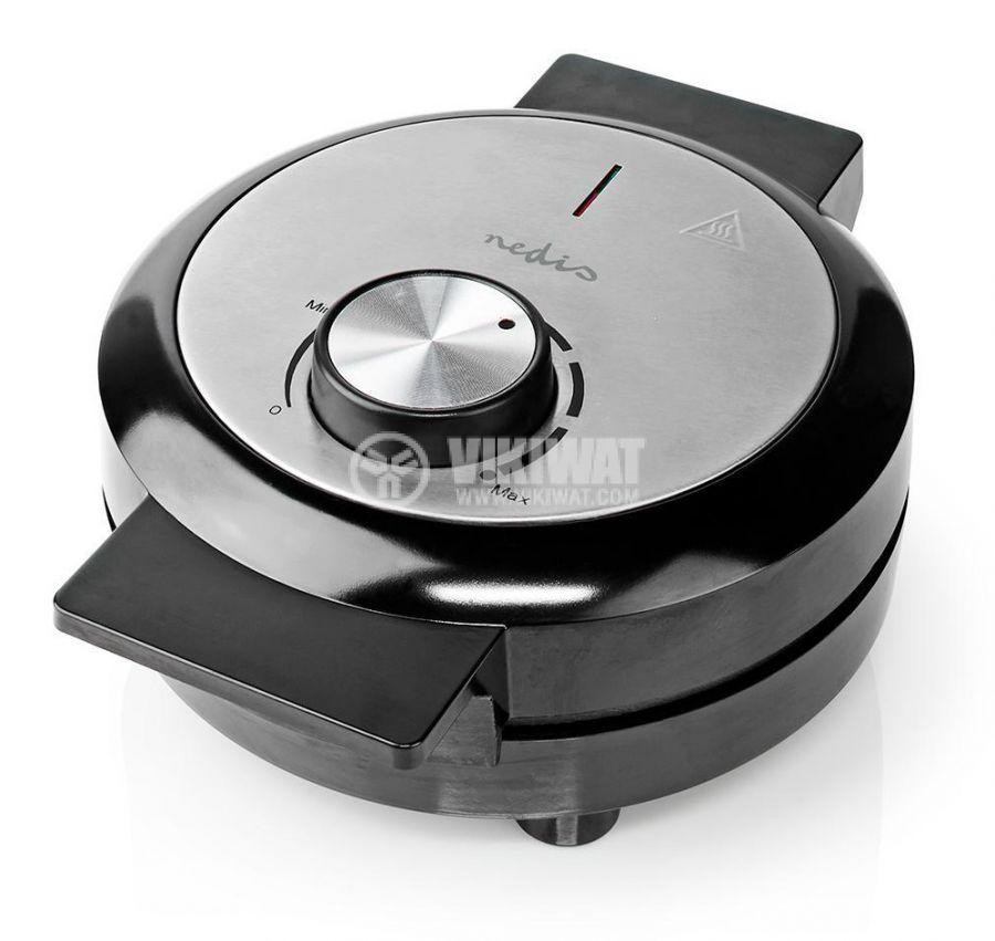 Waffle iron, 1000W, 230VAC, adjustable, black/gray, KAWP100BK, NEDIS - 7