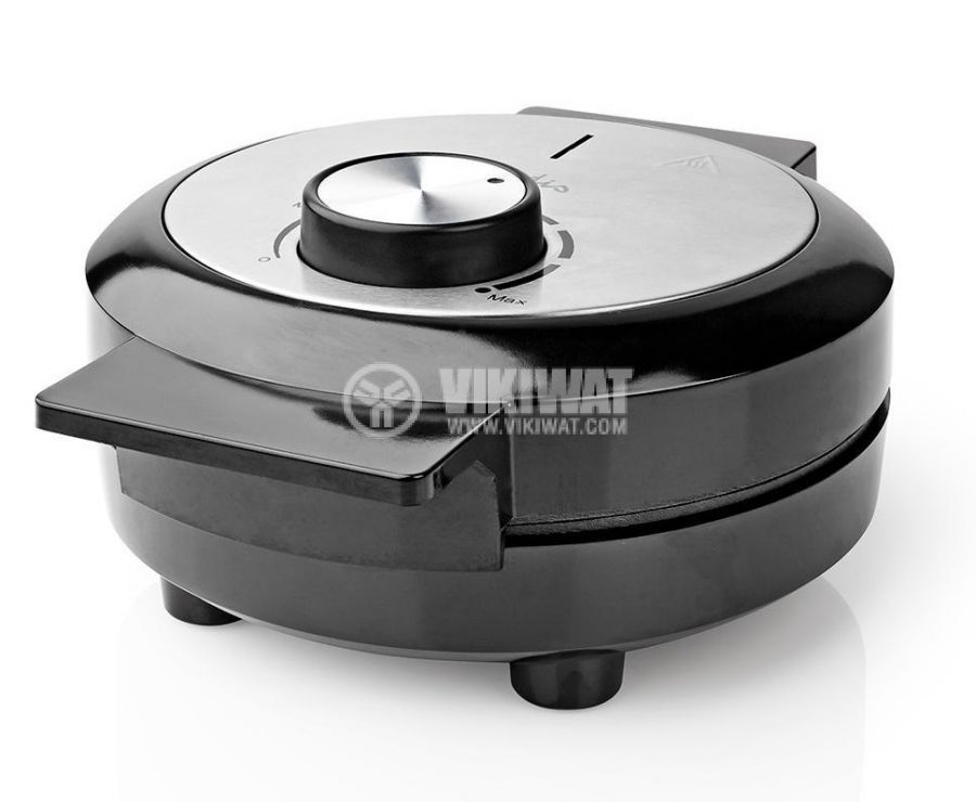 Waffle iron, 1000W, 230VAC, adjustable, black/gray, KAWP100BK, NEDIS - 6