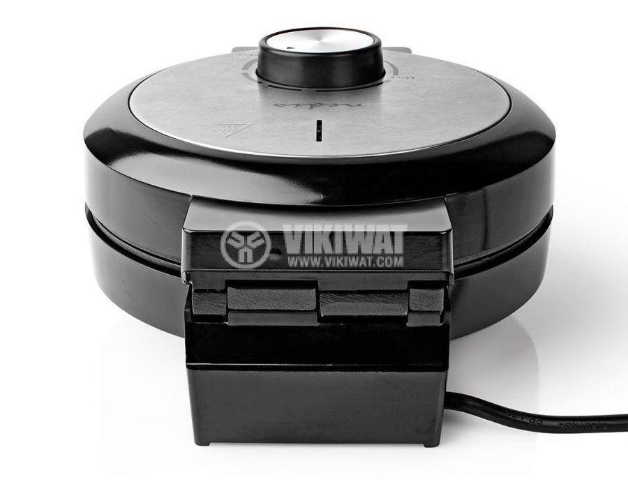Waffle iron, 1000W, 230VAC, adjustable, black/gray, KAWP100BK, NEDIS - 4