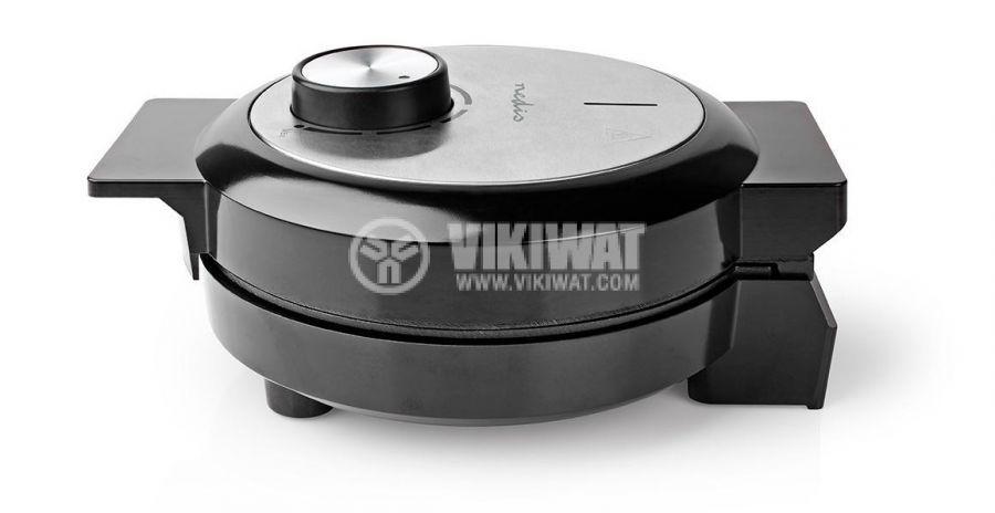 Waffle iron, 1000W, 230VAC, adjustable, black/gray, KAWP100BK, NEDIS - 3