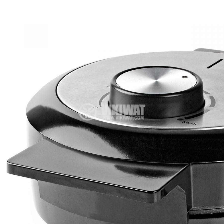 Waffle iron, 1000W, 230VAC, adjustable, black/gray, KAWP100BK, NEDIS - 8