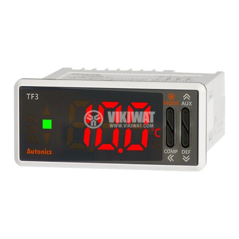 Термоконтролер TF31-11H, 24VAC/12~24VDC, -99~99.9°C, термистор, релеен - 1