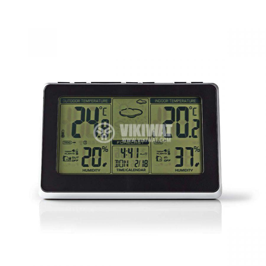 Weather station WEST400BK, indoor and outdoor temperature, humidity, -30~60°C, display  - 1