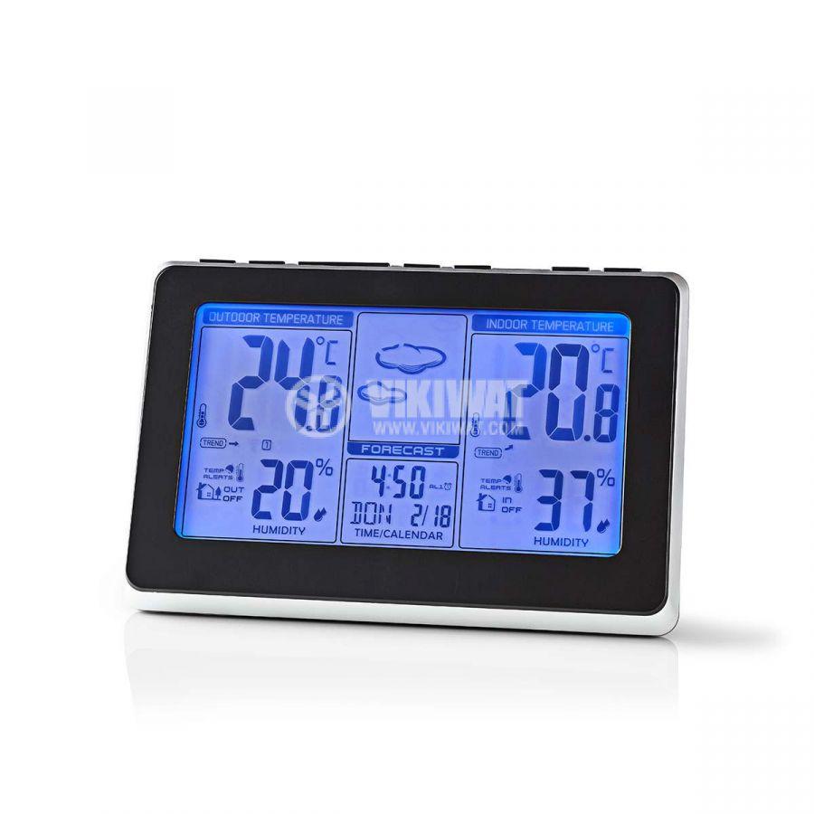 Weather station WEST400BK, indoor and outdoor temperature, humidity, -30~60°C, display  - 2