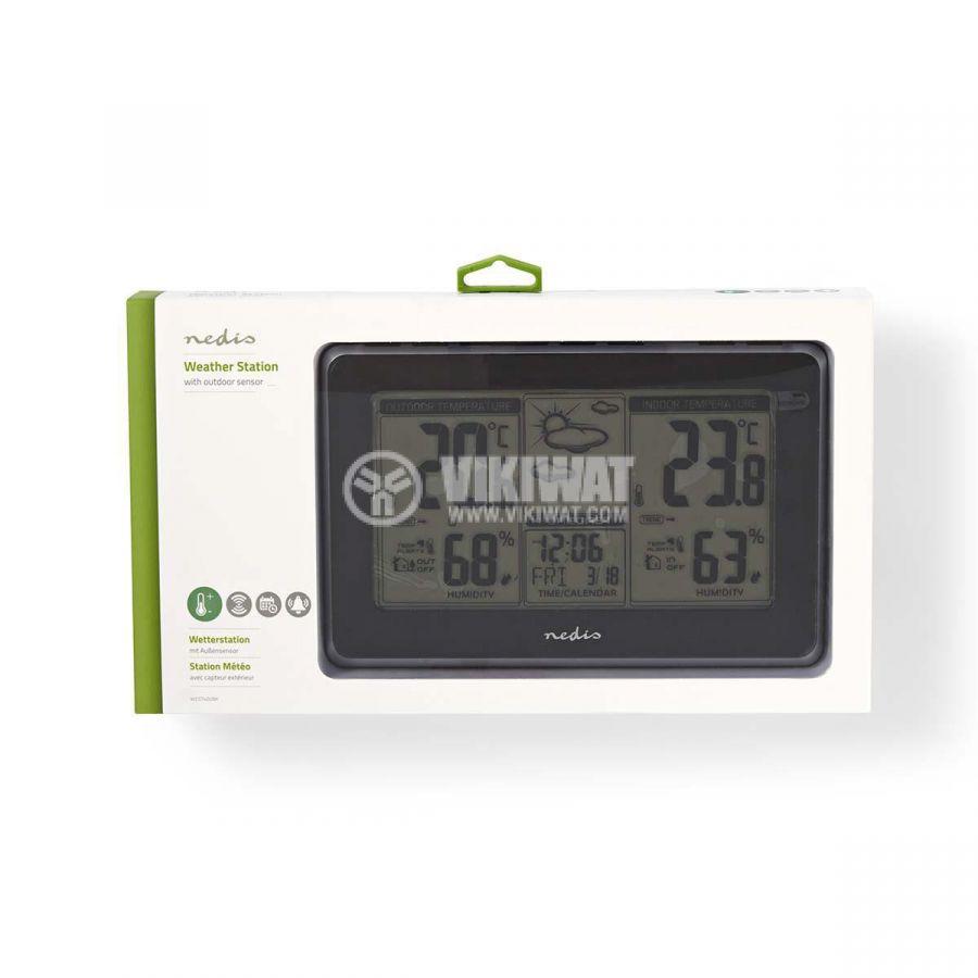 Weather station WEST400BK, indoor and outdoor temperature, humidity, -30~60°C, display  - 5