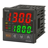 Temperature regulator TK4S-14RN, 100~240VAC, 100~240VAC, 0.1~1700°C, Cu100, Cu50, JPt100, Ni120, Pt100, Pt50, B, C, E, G, J, K, L, N, PLII, R, S, T, U, 2 relay