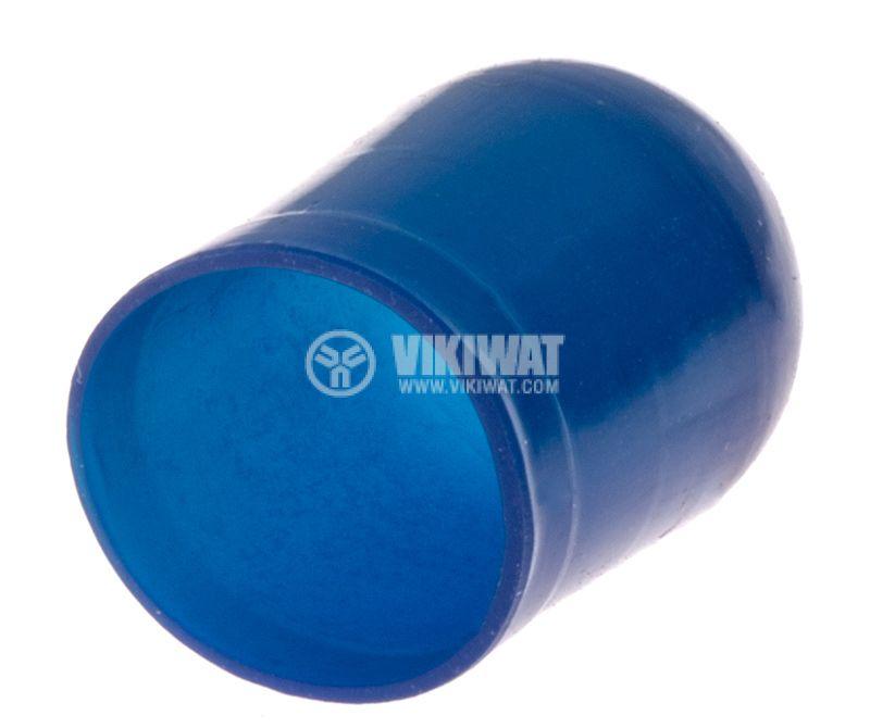 Маншон за лампа скала ф10mm х 12.6mm син - 2
