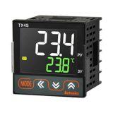 Temperature regulator TX4S-24C, 100~240VAC, 0~1700°C, Cu50, Pt100 J, K, L, R, S, T, 2 relay+SSR