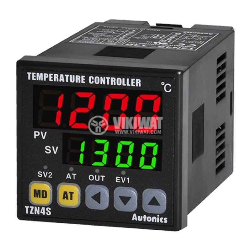 Temperature regulator TZN4S-14C, 100~240VAC, 0~2300°C, Cu50, Pt100 J, K, L, R, S, T, current+alarm - 1