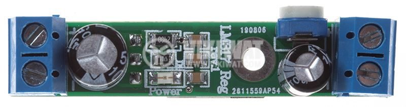 Регулатор на напрежение LM317 Reg. rev.1, 3.7/36VDC - 1.3/30VDC - 1