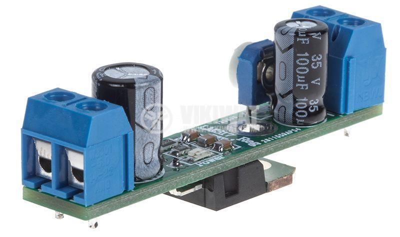 Регулатор на напрежение LM317 Reg. rev.1, 3.7/36VDC - 1.3/30VDC - 3