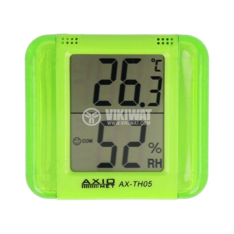 Термометър и хигрометър AX-TH05, LCD дисплей - 1