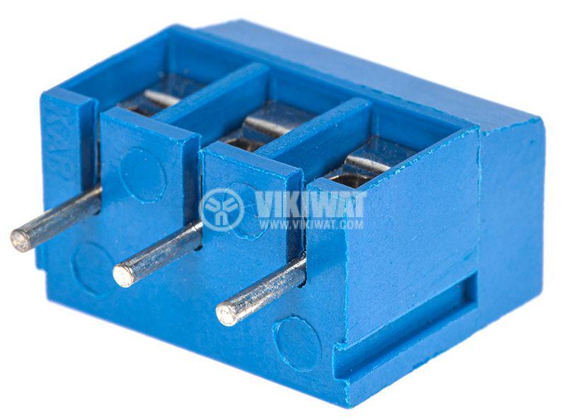 Терминален блок с 3 пина 24А за печатен монтаж - 3
