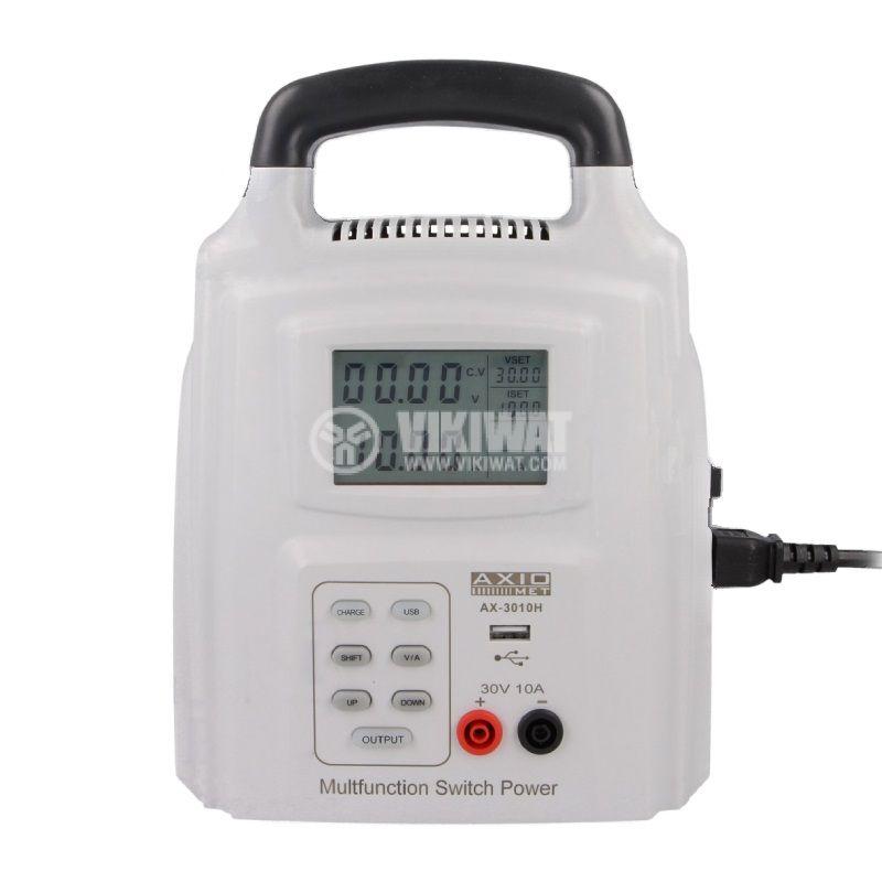 DC лабораторен захранващ блок, импулсен, AX-3010H, до 10A, до 30V, 1 канал, 300W