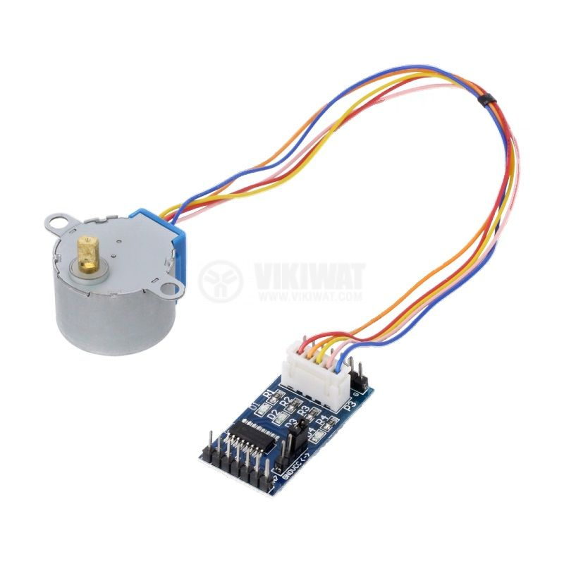 Електродвигател с контролер OKY3199, постояннотоков, 5VDC, стъпков, 5.625°