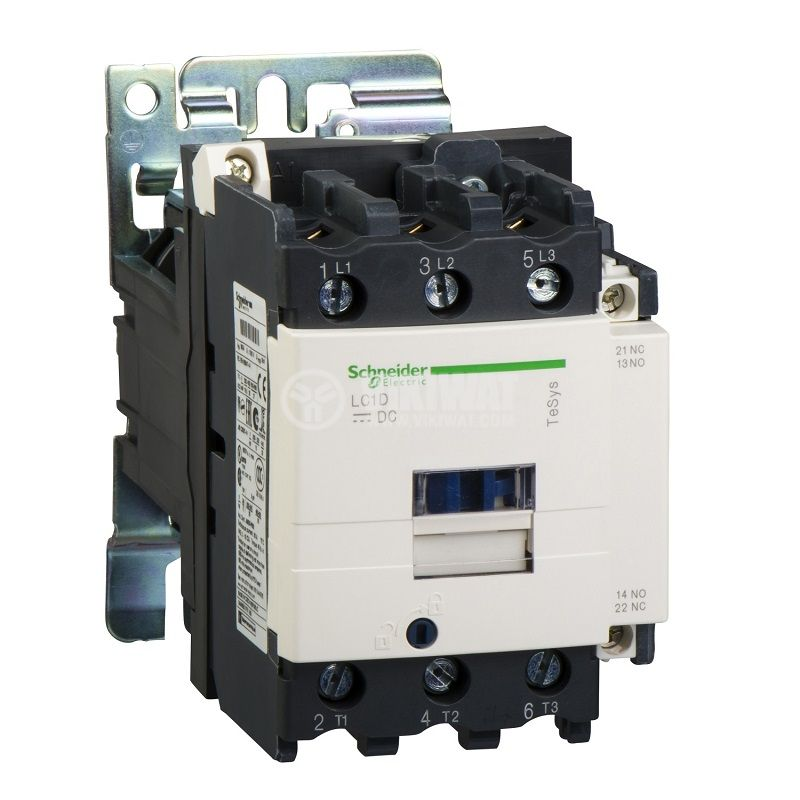 Contactor, three-phase, coil 24VDC, 3PST - 3NO, 80A, LC1D80DB, NO+NC