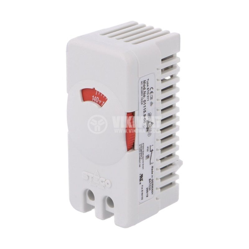 Терморегулатор, биметален, 01115.9-00, 32~140°F, NC, 10A/250VAC, DIN