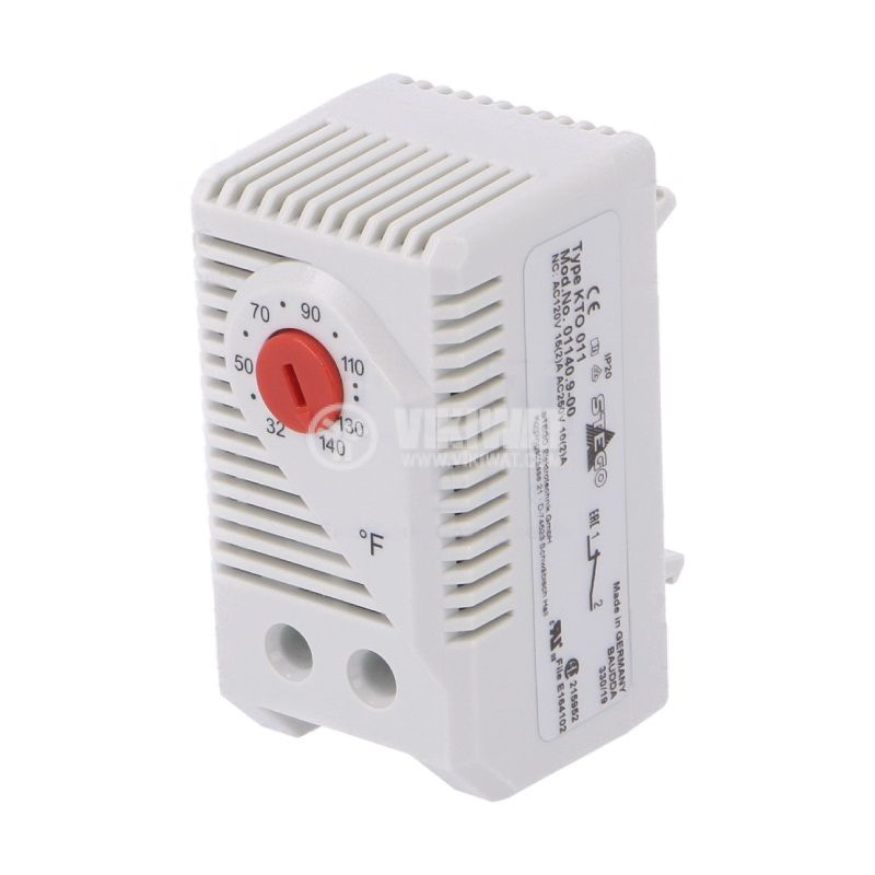 Терморегулатор, биметален, 01140.9-00, 32~140°F, NC, 10A/250VAC, DIN