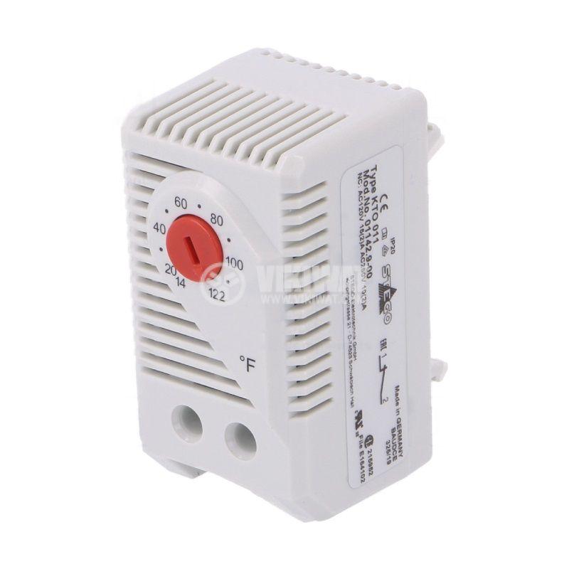 Терморегулатор, биметален, 01142.9-00, 14~122°F, NC, 10A/250VAC, DIN