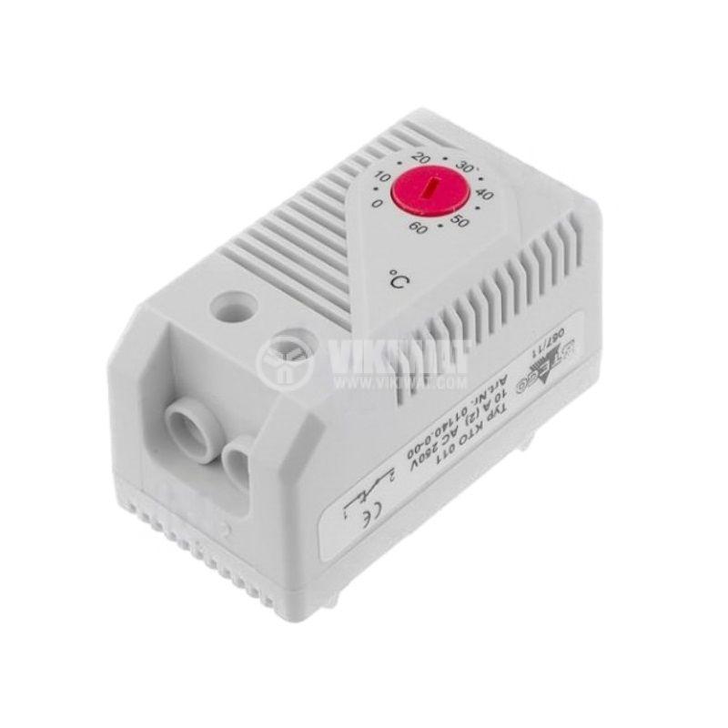 Терморегулатор, биметален, 01140.0-00, 0~60°C, NC, 10A/250VAC, DIN