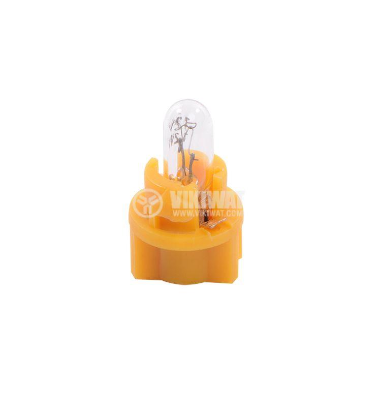 Автомобилна лампа с PVC цокъл, нажежаема жичка, 12VDC, 1.2W