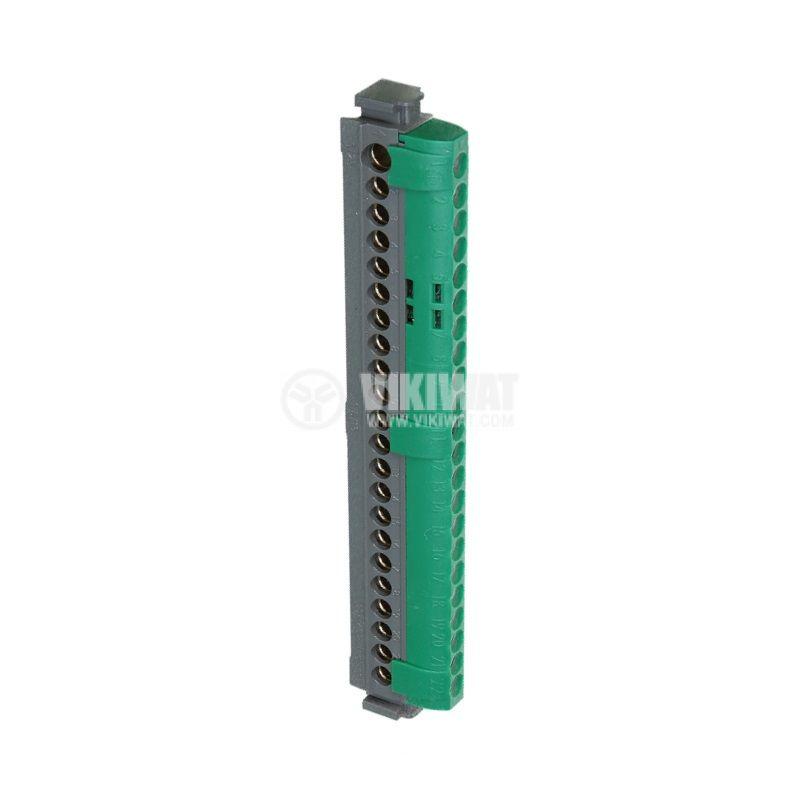 Съединителна клема, 4838, 80A, 400V, 1x25mm2, 33x16mm2, зелена, заземителна