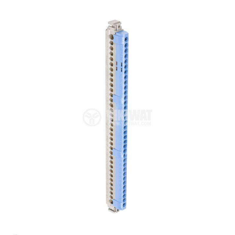 Нулева съединителна клема, 4848, 80A, 400V, 1x25mm2, 33x16mm2, синя