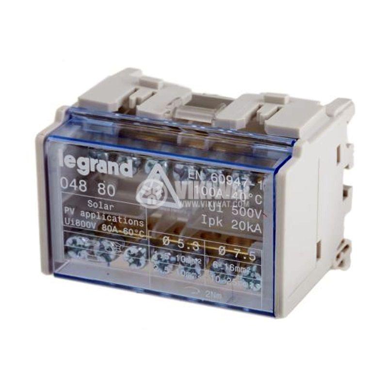 Разпределителен клемен блок 4880, 2P, 4 модула, 100A, 400V - 1
