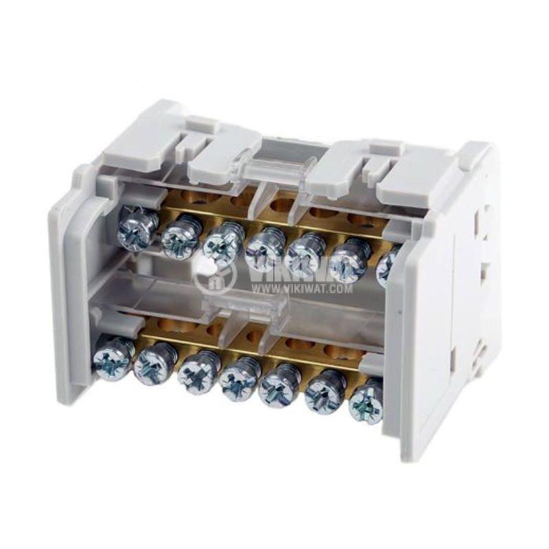 Разпределителен клемен блок 4880, 2P, 4 модула, 100A, 400V - 2