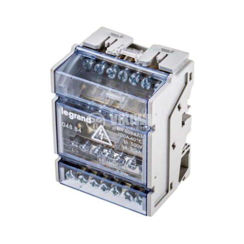 Разпределителен клемен блок 4884, 4P, 4 модула, 100A, 400V - 1
