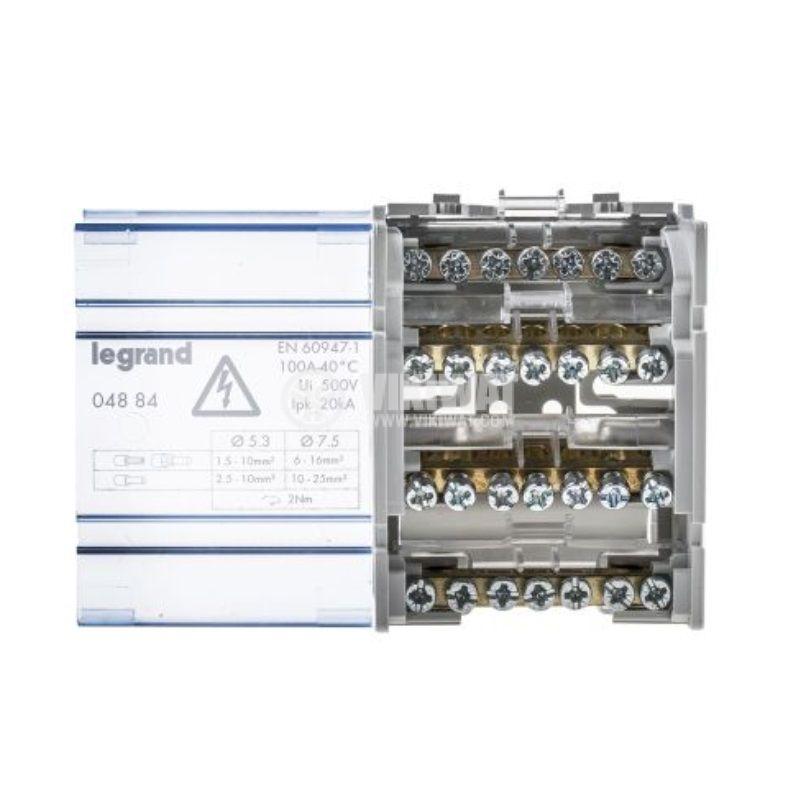 Разпределителен клемен блок 4884, 4P, 4 модула, 100A, 400V - 2
