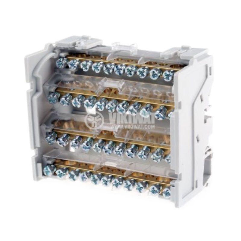 Разпределителен клемен блок 4886, 4P, 6 модула, 125A, 400V - 2