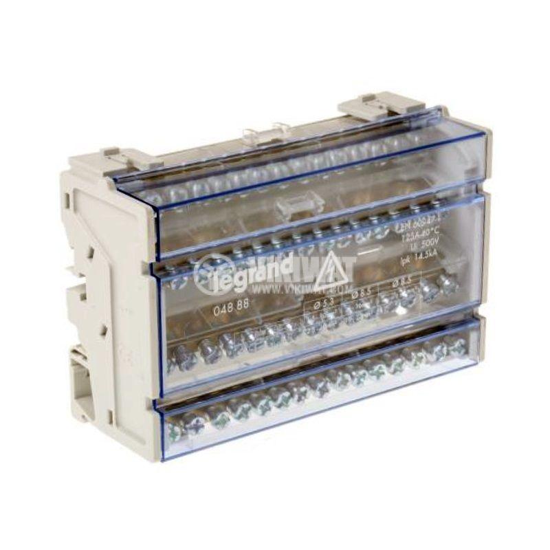 Разпределителен клемен блок 4888, 4P, 8 модула, 125A, 400V - 1