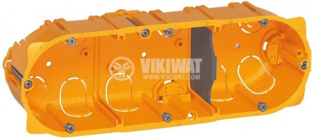 Конзола за стени от гипсокартон, тройна, 50mm, Batibox, LEGRAND 0 800 53