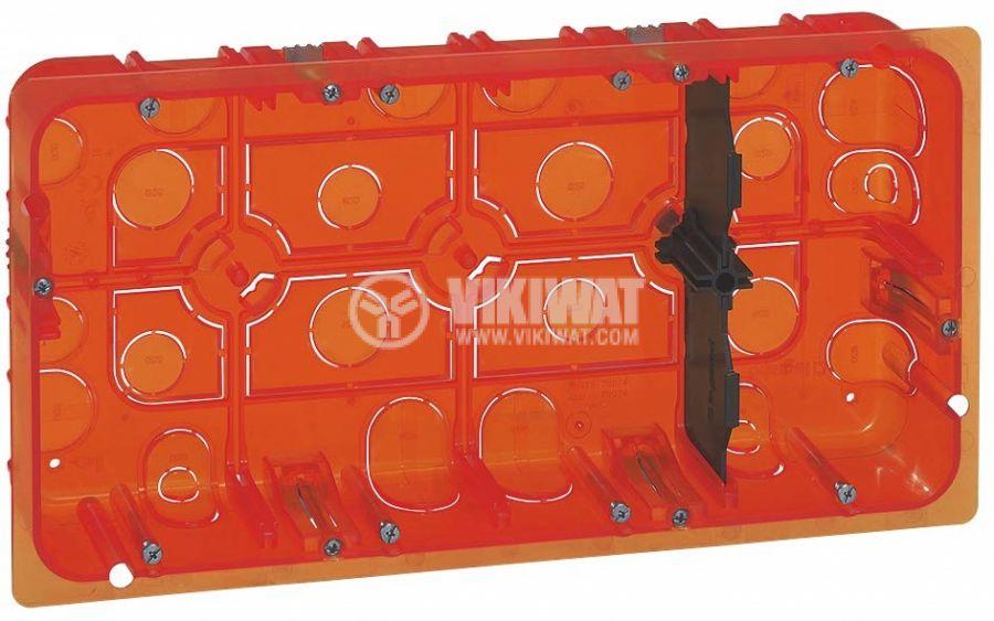Flush mounting box, 8-gang, for multi-materials, 50mm, Batibox, LEGRAND 0 801 28