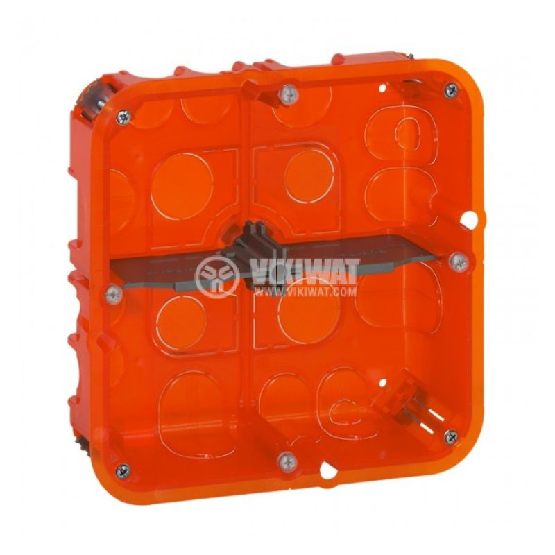 Конзола за стени от гипсокартон или мазилка, четворна, 50mm, Batibox, LEGRAND 0 801 24