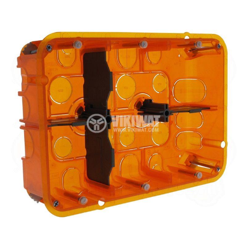 Конзола за стени от гипсокартон или мазилка, 6 модула, 50mm, Batibox, LEGRAND 0 801 26