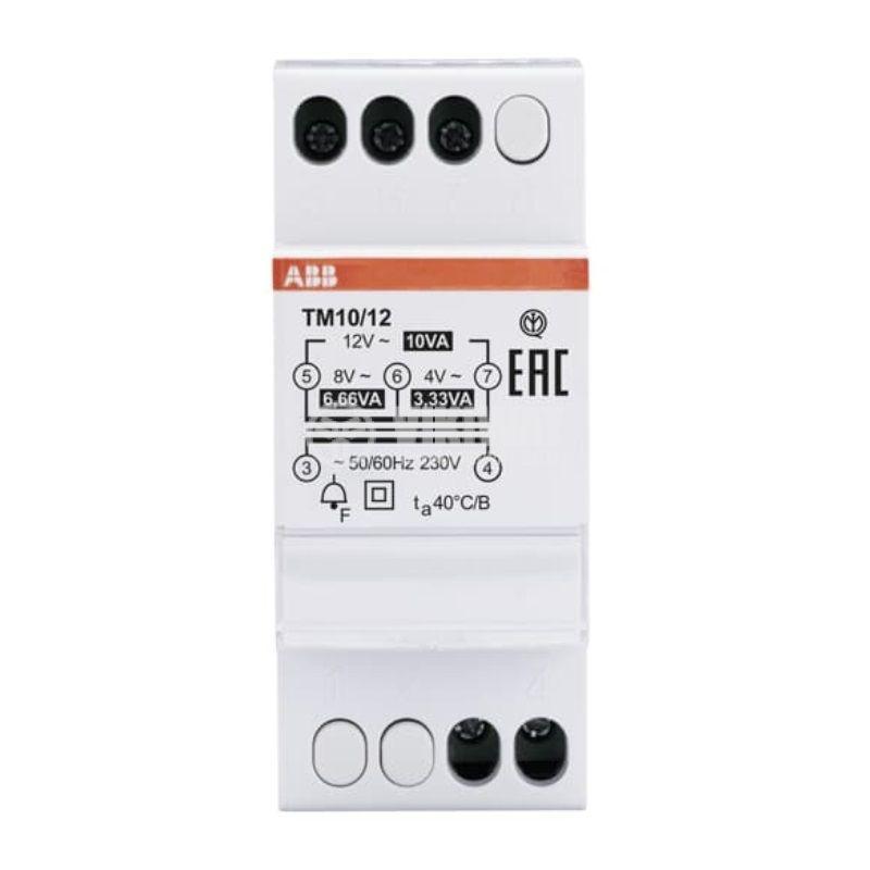 Звънчев трансформатор 2CSM228715R0802, 230-4/8/12VAC, за DIN шина