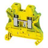 Редова клема, едноредова, NSYTRV42PE, 30A, 600V, 4mm2, жълто-зелена