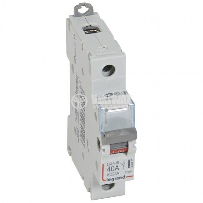 Прекъсвач разединителен, еднополюсен, 40A, 250V, DIN шина, 4 064 11