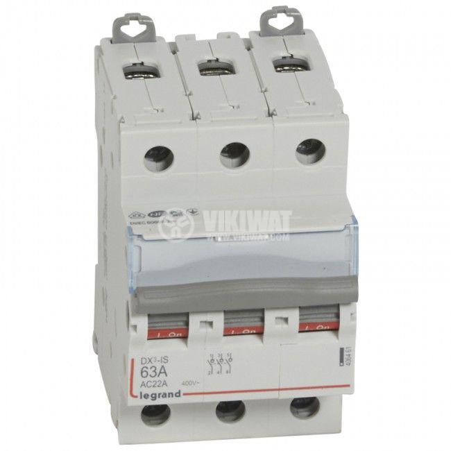 Прекъсвач разединителен, триполюсен, 63A, 400V, DIN шина, 4 064 61